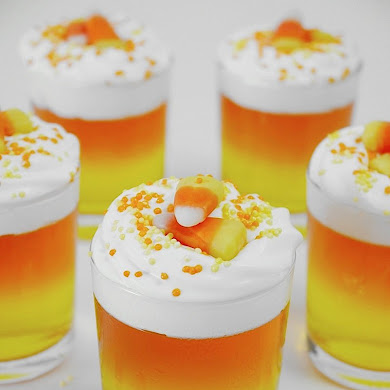 Halloween Candy Corn Jello Cups