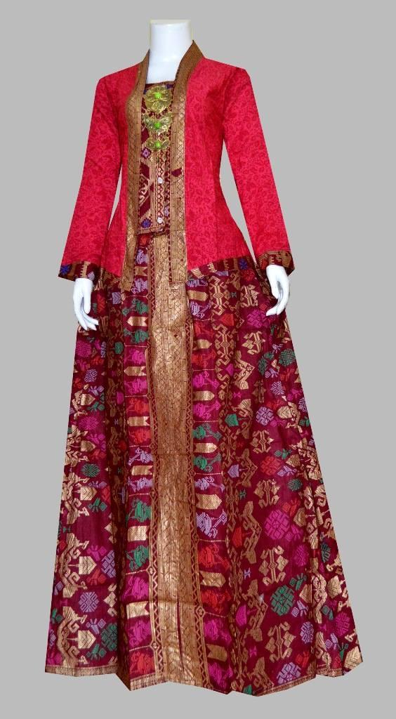 Model Gamis Batik Modern 1 2 Apk Model Baju Gamis Kombinasi Batik
