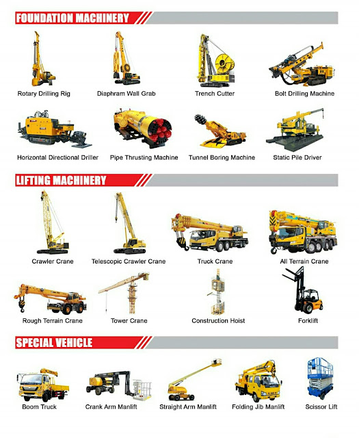Tower Crane,Passenger Hoist,Crawler Crane,Drilling Machine,Static Pile Driver,Boom Truck