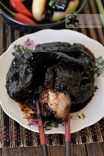caramel pork belly kong bak bao pau