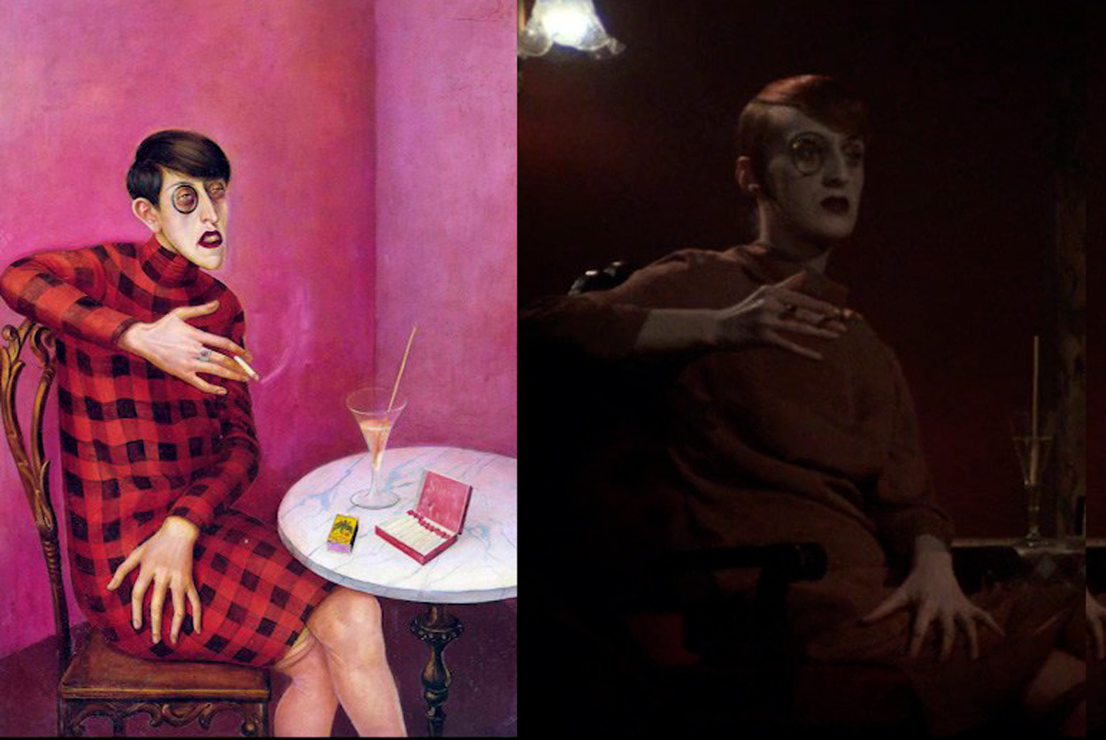 Retrato de la periodista Sylvia von Harden Pintura de Otto Dix - Cabaret de Bob Fosse