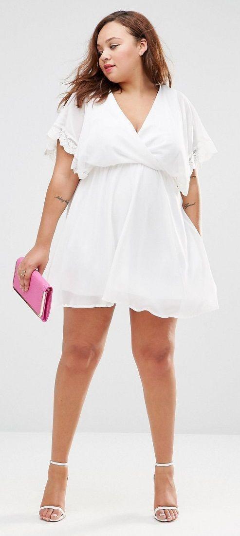 Vestidos blancos para mujeres gordas