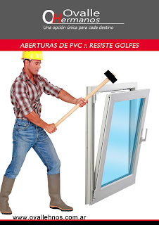 abertura de PVC resistente a golpes
