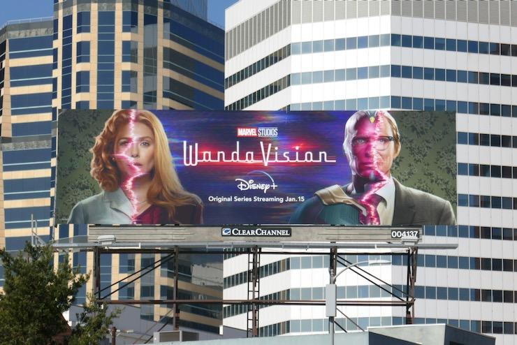 WandaVision series launch billboard