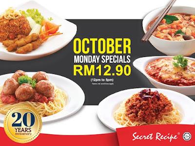 Secret Recipe Malaysia October Special Discount Promo
