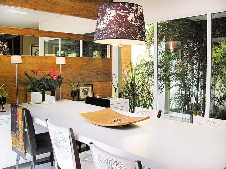 como decorar o centro de mesa da sala de jantar