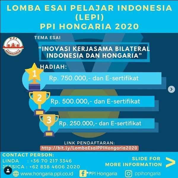 Lomba Esai Pelajar Indonesia (LEPI) PPI Hongaria 2020
