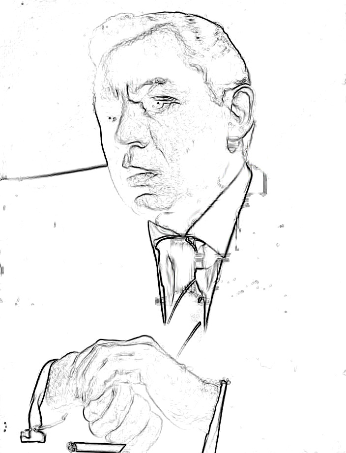 The Glass Character: They're here: Oscar Levant coloring