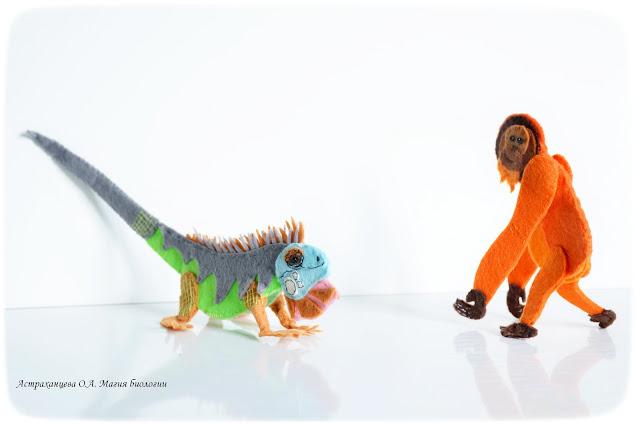 palchikovyj-teatr-igrushki-iz-fetra-orangutan-iguana