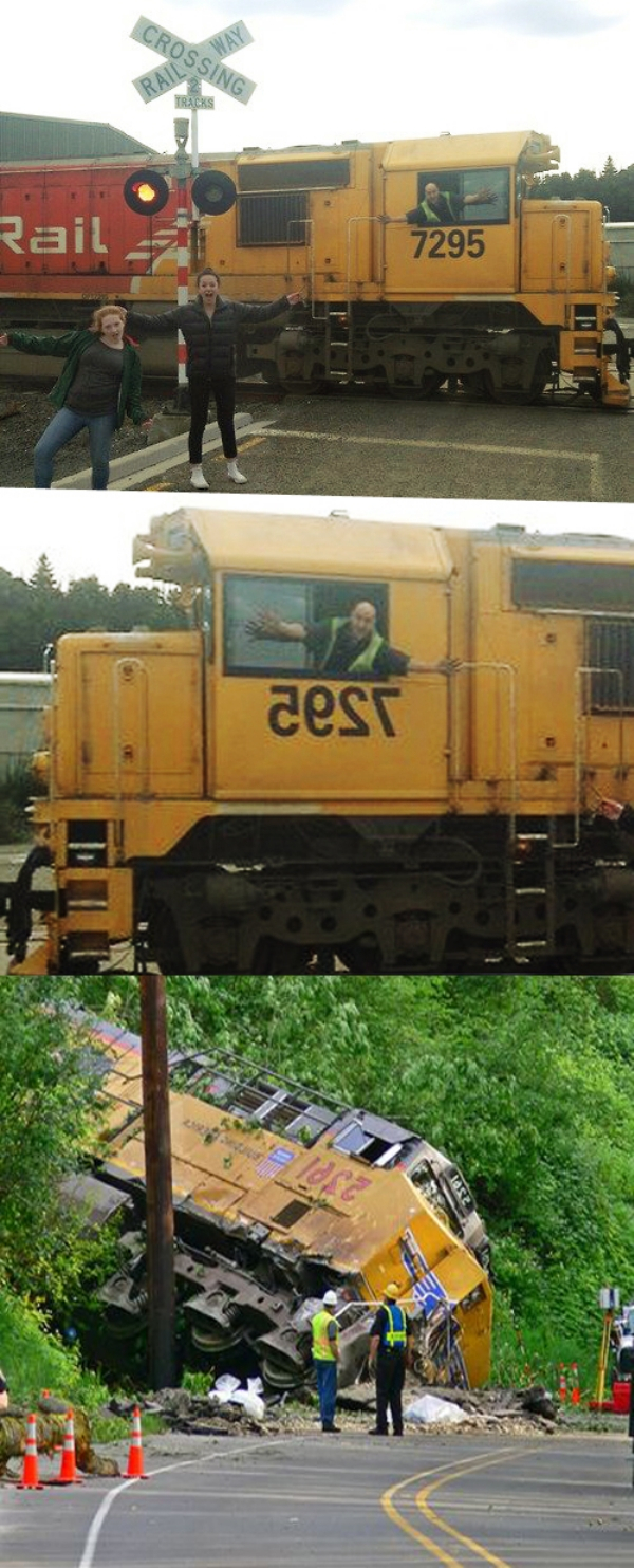 Funny train photo fail picture