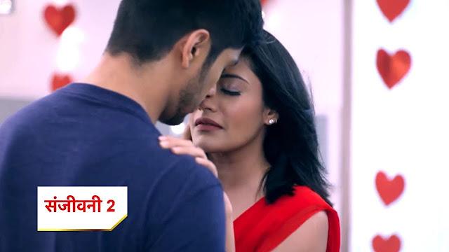 Sid Ishani sizzle intimate romance as Ishani wears bold hotness in red saree in Sanjivani 2