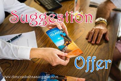 Penjelasan Lengkap Materi Suggestion and Offer Berikut Contoh Dialognya