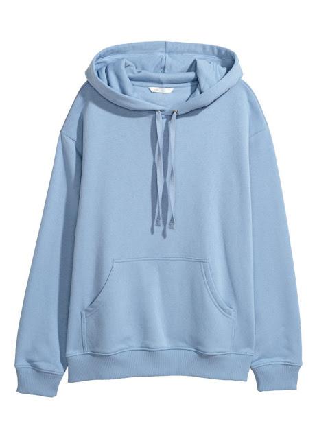 H&M Hoodie Dusty Blue