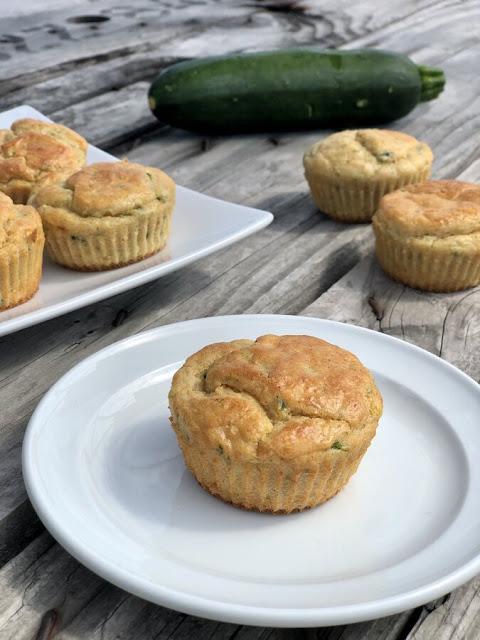 muffins salés - courgettes et saumon fumé - ig bas