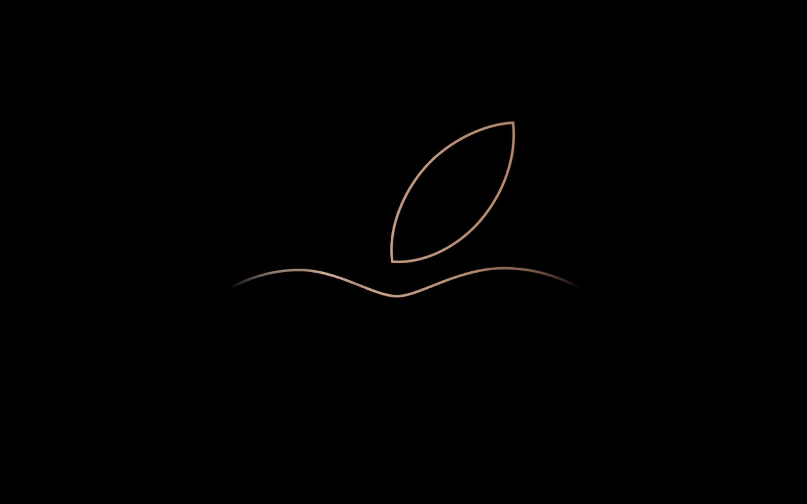 Apple, Logo, Minimal, Dark Background, HD, Technology