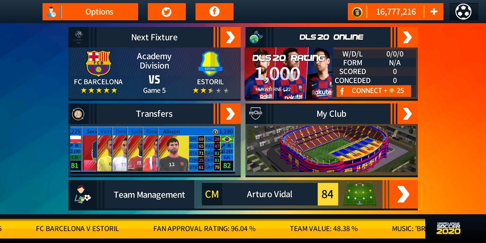 Dream League Soccer 2020 FC Barcelona Edition Apk + Data +