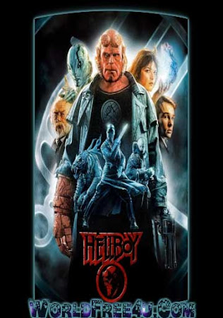 Poster Of Hellboy In Dual Audio Hindi English 300MB Compressed Small Size Pc Movie Free Download Only At worldfree4u.com