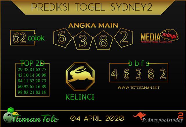 Prediksi Togel SYDNEY 2 TAMAN TOTO 04 APRIL 2020