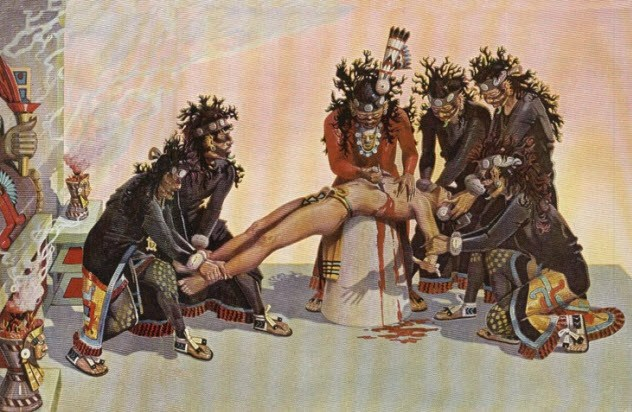 pengorbanan manusia untuk dewa suku aztec yang sangat mengerikan