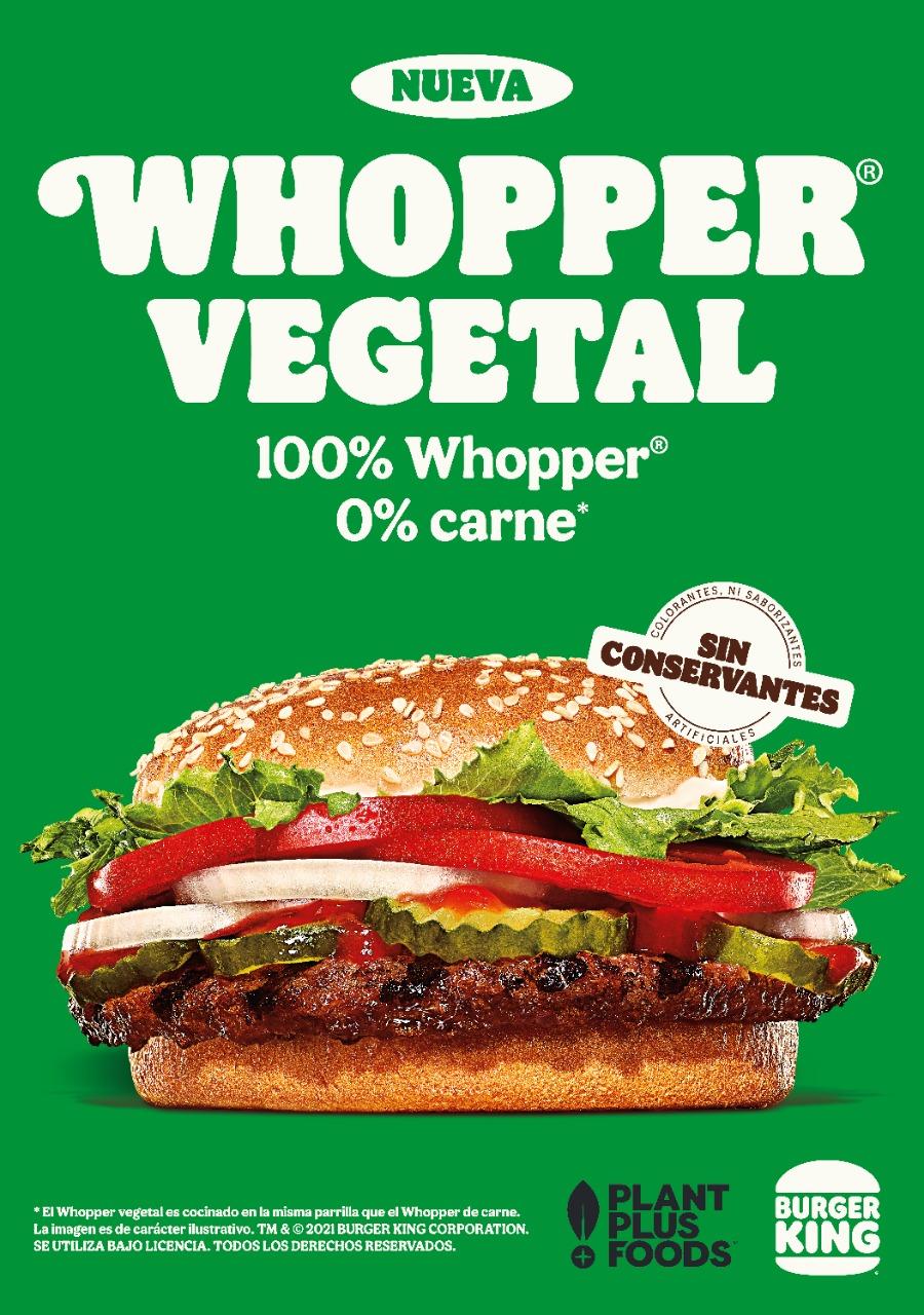 whopper vegetal burguer king