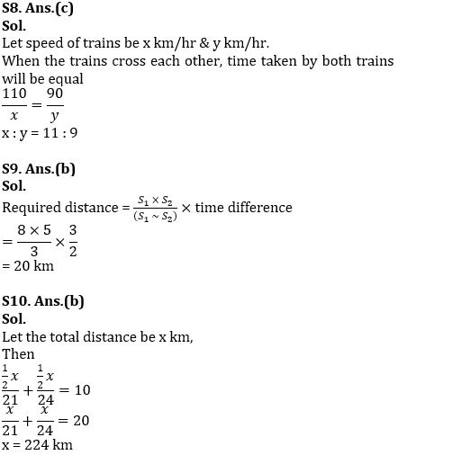 Previous Year Time Speed Distance Questions for SSC CGL TIER - 2