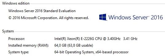 Servidores Xeon® E-2200