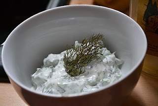 Mixed in yoghurt with fennel
