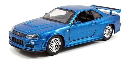 coleccion rapido y furioso, coleccion rapido y furioso jada tyos, coleccion rapido y furioso 1/32, Brian's Nissan Skyline GT-R (R34)