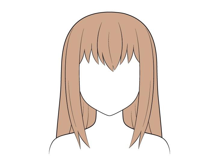 Pewarnaan rambut panjang anime
