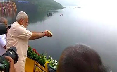 PM Narendra Modi Inaugurates Narmada Dam On Birthday