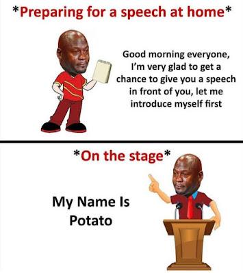 Speech memes, hilarious memes, introvert meme