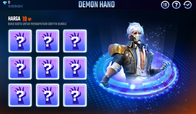 Event Demon Hand Terbaru Free Fire Hadiah Utama Griffin Bundle