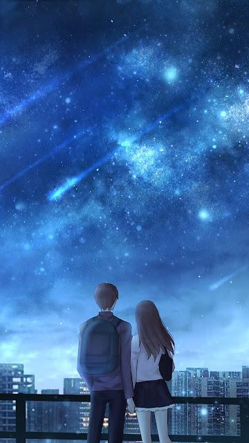 Casal Apaixonados, Amor, Estrelas Cadentes