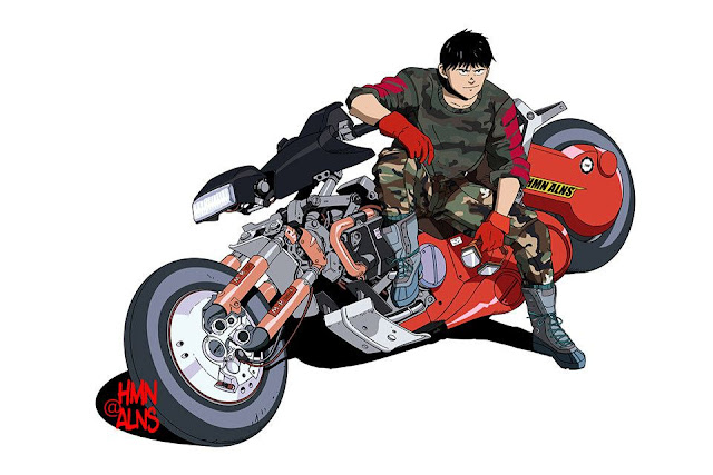 HMN ALNS returns to update the biker-chic look of the classic 'Akira' hero.