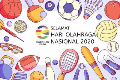 gambar ucapan haornas 2020 (hari olahraga nasional)