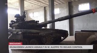 Oposisi Gunakan Tank Rezim Syiah Nushairiyah dalam Pertempuran Aleppo