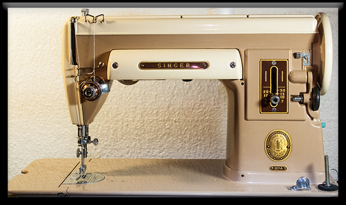 vintage 301 Singer sewing machine