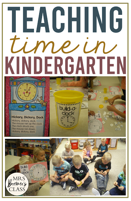 Teaching Time to the Hour for math learning and practice in Kindergarten