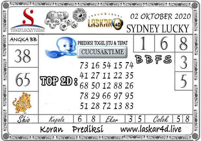 Prediksi Sydney Lucky Today LASKAR4D 02 OKTOBER 2020