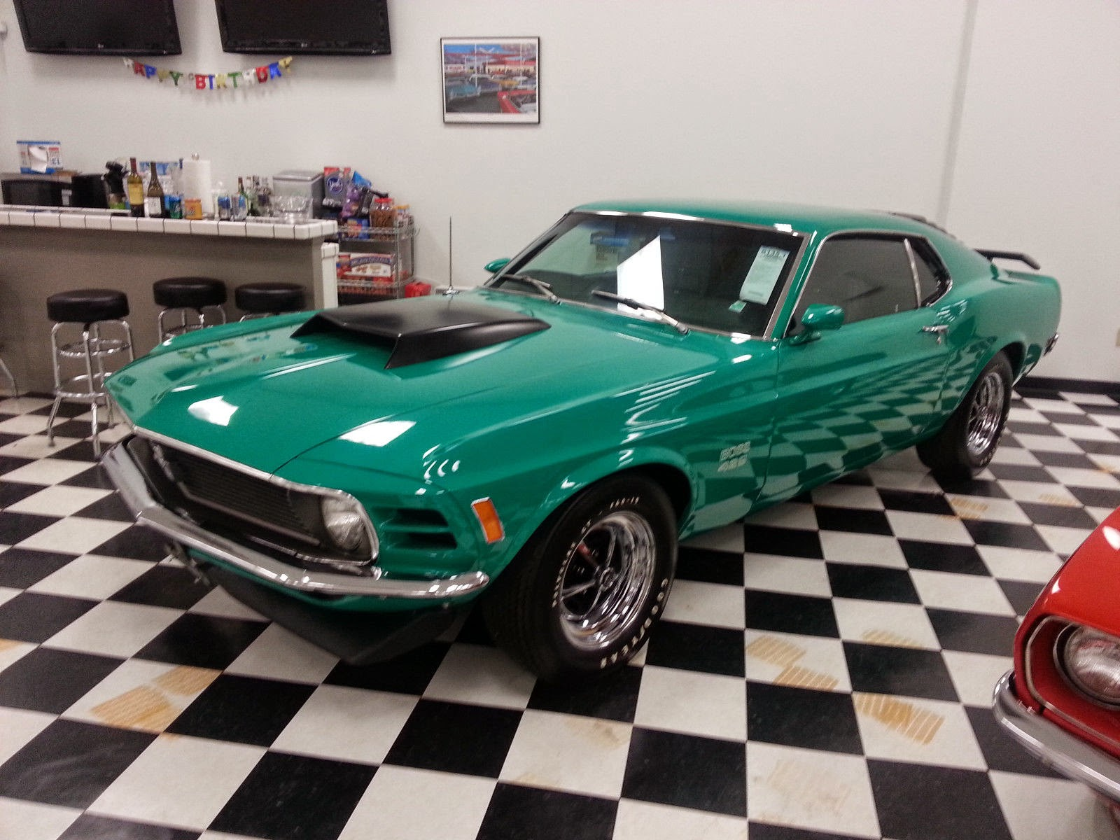 rare 1970 ford mustang boss 429 grabber green for sale american muscle cars. Black Bedroom Furniture Sets. Home Design Ideas