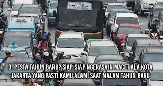 Pesta Tahun Baru? Siap-siap Ngerasain Macet Ala Kota Jakarta yang pasti Kamu alami saat malam Tahun Baru