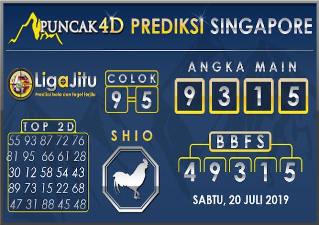 PREDIKSI TOGEL SINGAPORE PUNCAK4D 20 JULI 2019