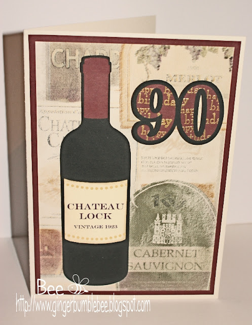 ... his birth on the card, and a vintage bottle of wine seemed perfect