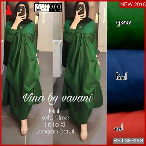 RPJ019D157 Model Dress Vina Cantik Dress Wanita