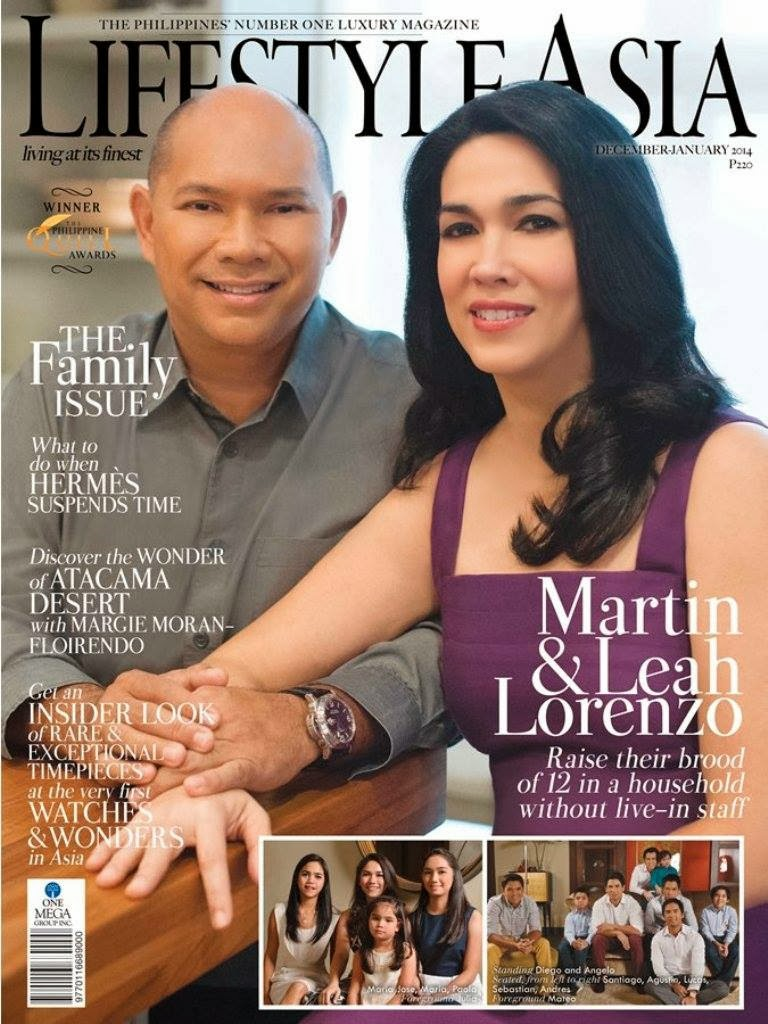 Magazine Cover Lifestyle Asia December 2013 January