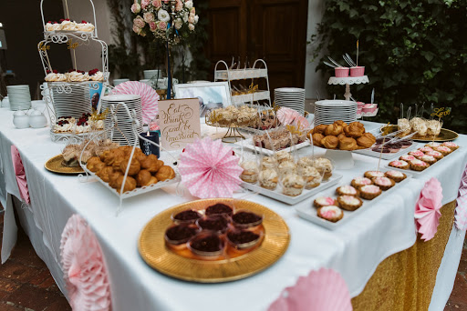 Dessert table aka Candy bar at our destination wedding in Poland