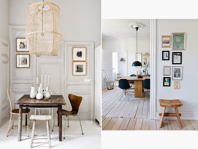 Tabouret vintage bois massif - deco scandinave