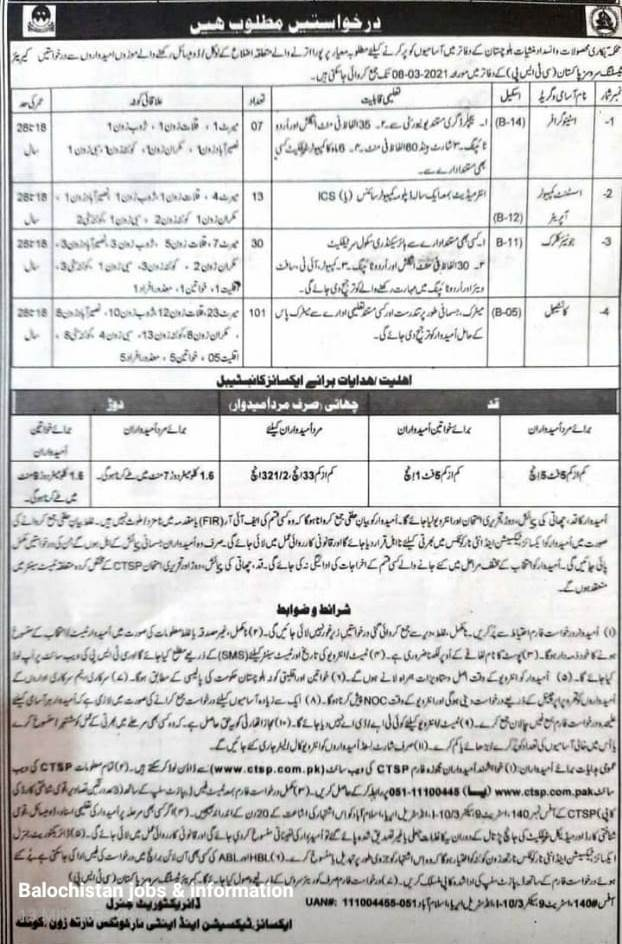 Jobs In Excise, Taxation Anti Narcotics North Zone Quetta, Balochistan