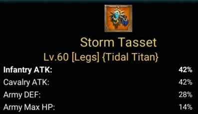 Item Storm Tasset