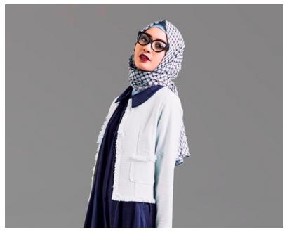 Style fashion hijab modern untuk muslimah yang berkacamata Fashion style hijab modern